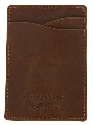Superdry Worn Tan Premium Money Clip Wallet