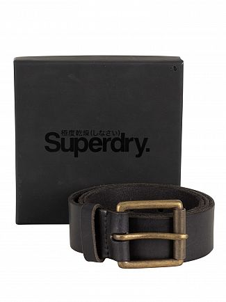 Superdry Black Western Belt In A Box