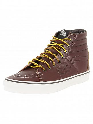 Vans Rum-Raisin/Marshmallow Sk8-Hi Ground Breaker Trainers