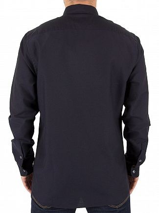Aquascutum Navy Bevan Classic Oxford Shirt