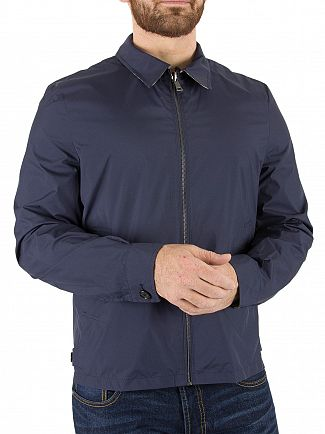 AQUASCUTUM NAVY BRACKENBURY REVERSIBLE JACKET