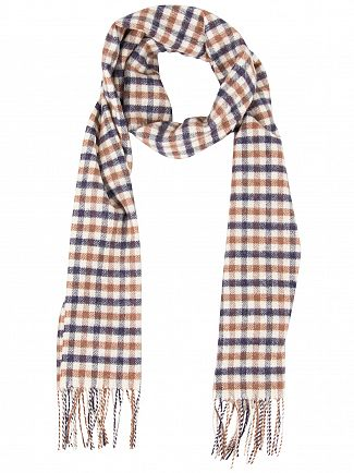 Aquascutum Vicuna Lambswool CC Checked Scarf