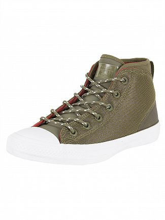 Converse Medium Olive/Terra Red Ctas Syde Street Mid Trainers