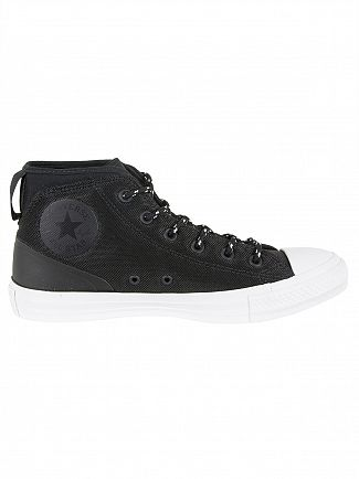 Converse Black/Black/White CTAS Syde Street Mid Trainers