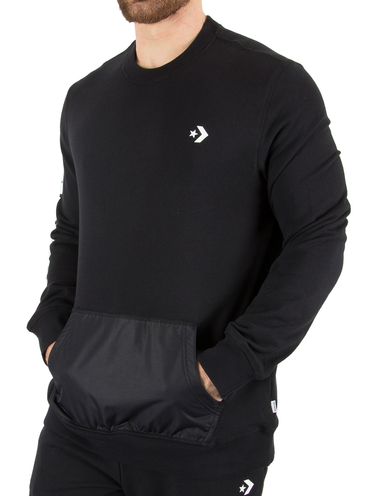 Stand-out.net Converse Black Mixed Media Sweatshirt