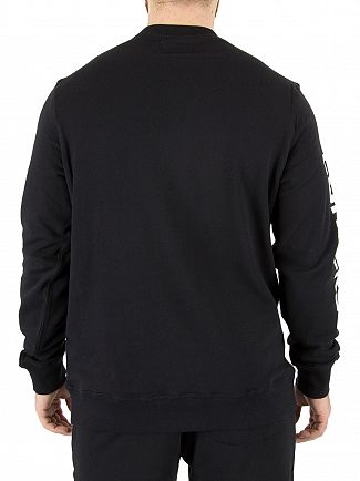 Converse Black Mixed Media Sweatshirt