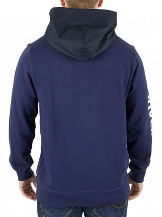 Converse Blue Mixed Media Zip Hoodie