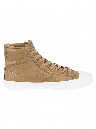Converse Sand Dune/Black/White Star Player HI Trainers