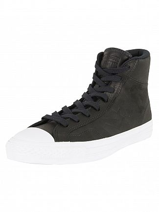 Converse Black/Black/White Star Player HI Trainers