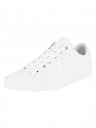 Converse White/White/White Star Player OX Trainers
