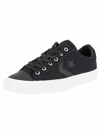 Converse Black/Black/White Star Player OX Trainers