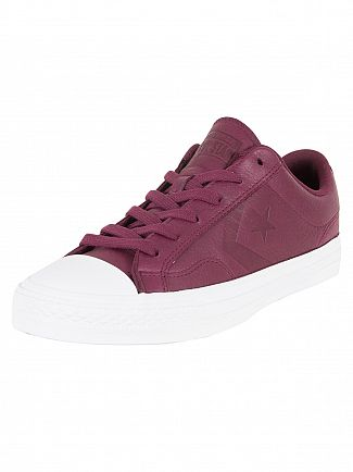 Converse Dark Sangria/Black/White Star Player OX Trainers