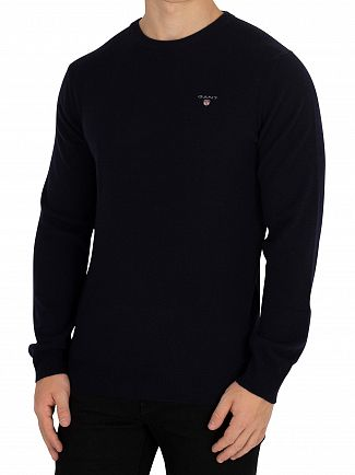 Gant Marine Super Fine Lambswool Knit