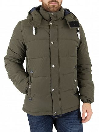 Jack & Jones Forest Night Figure Puffa Jacket