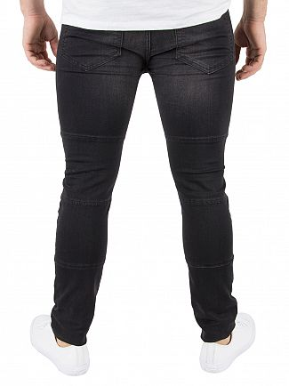 Religion Washed Black Lurid Ripped Jeans