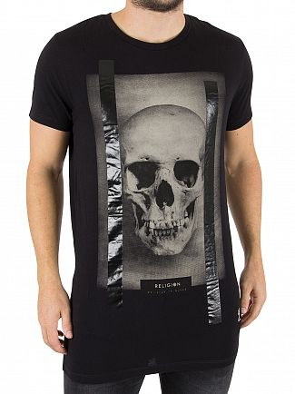 Religion Black Skull Foil T-Shirt