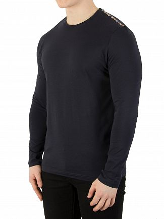 Aquascutum Navy Southport Longsleeved T-Shirt