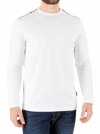 Aquascutum White Southport Longsleeved T-Shirt