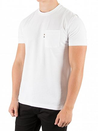 Aquascutum White Wilmslow Classic Pocket T-Shirt