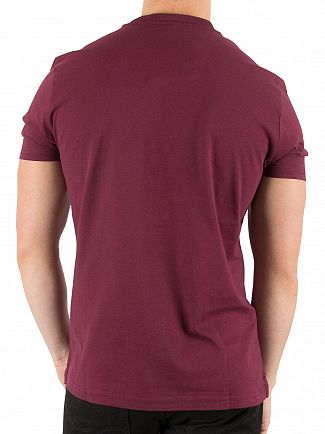 Aquascutum Bordeaux Wilmslow Classic Pocket T-Shirt