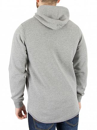 Jack & Jones Light Grey Melange Norton Zip Hoodie