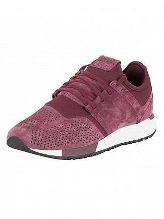 New Balance Burgundy 247 Trainers