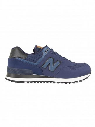New Balance Blue 574 Trainers
