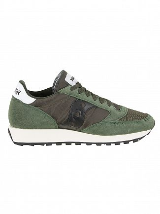 Saucony Dark Green/Black Jazz Original Vintage Trainers