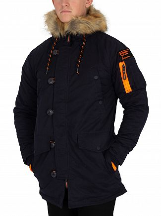 Superdry Dark Navy SD-3 Parka Jacket