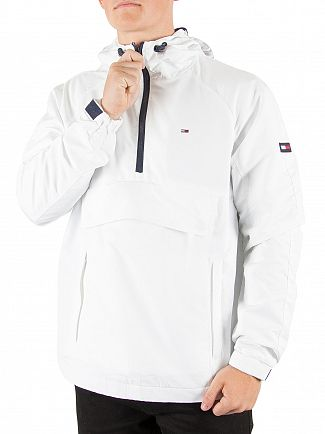 Tommy Hilfiger Denim Classic White Pullover Cagoule Jacket