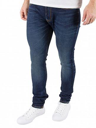 Vivienne Westwood Blue Denim Skinny Pantaloni Jeans