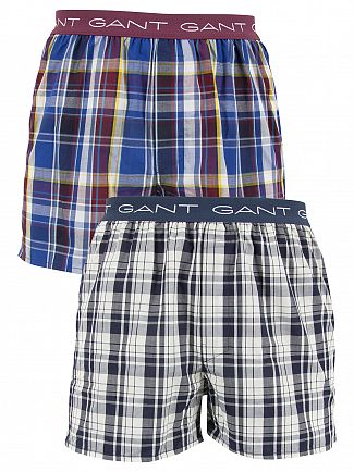 GANT PARK/UPTOWN 2 PACK WOVEN LOGO TRUNKS