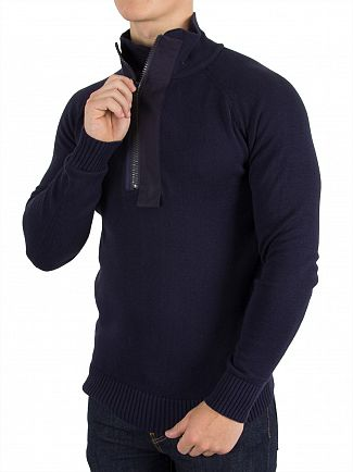 G-Star Sartho Blue Empral 1/2 Zip Knit