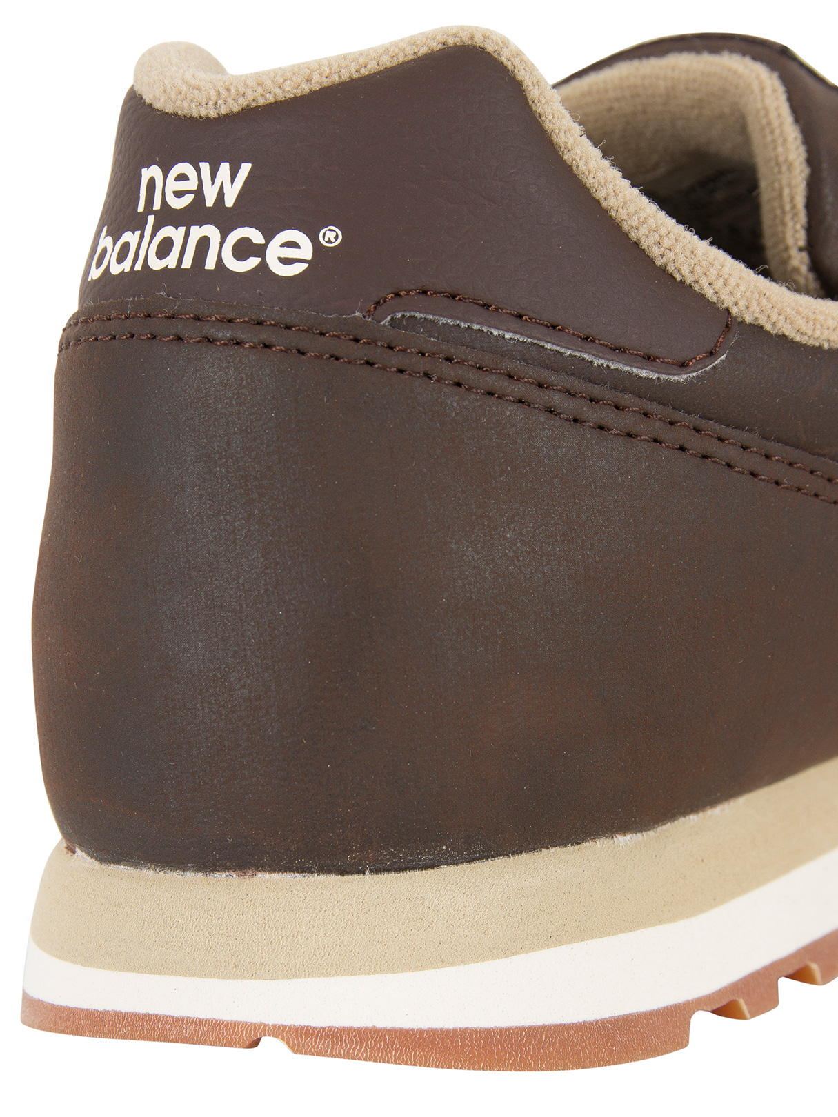 new balance 373 brown leather