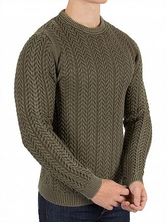 Only & Sons Dusky Green Hugo Washed Knit