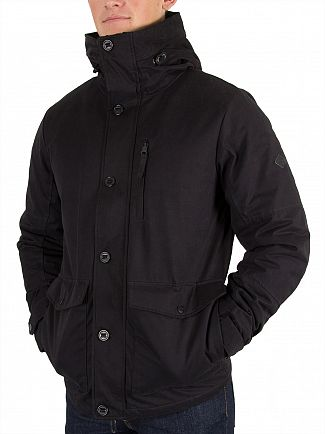 Only & Sons Black Mathi Short Parka Jacket