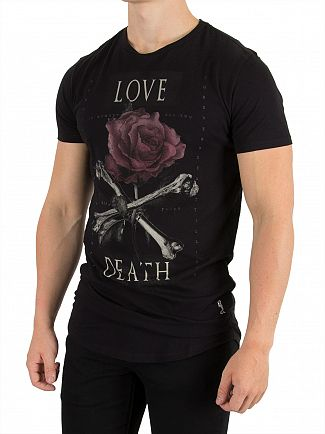 Religion Jet Black Love Death T-Shirt