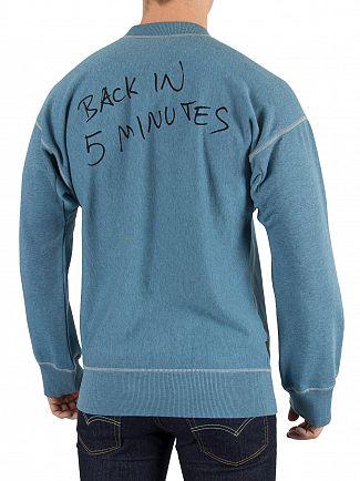 Vivienne Westwood Blue Square 24 Hours Sweatshirt