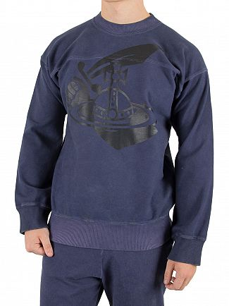 Vivienne Westwood Navy Square Arm & Cutlass Sweatshirt