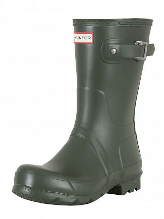 Hunter Dark Olive Original Short Wellies
