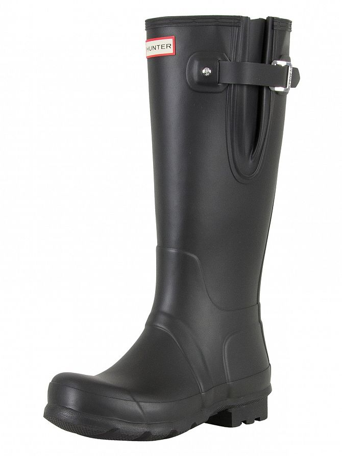 Hunter Black Original Side Adjustable Wellies
