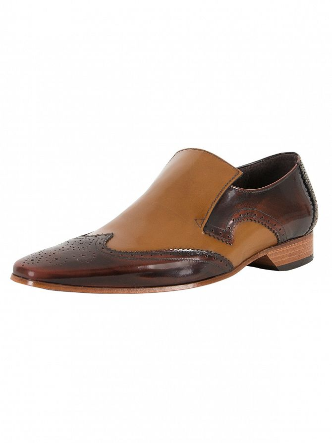 Jeffery West College Mid Brown/College Mid Honey Escoba Leather Shoes