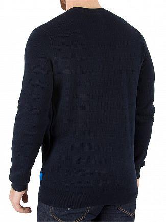 Ellesse Navy Brindisi Textured Italia Knit