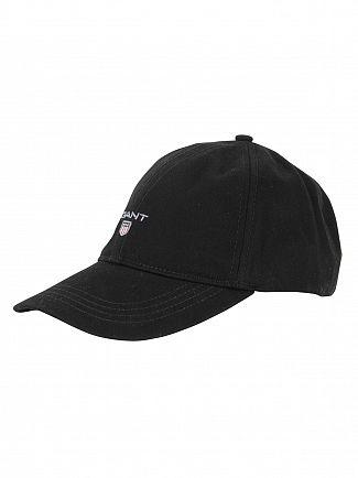 Gant Black Twill Logo Cap