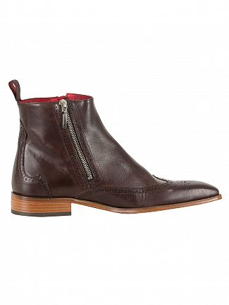 Jeffery West Tequila Dk Brown Leather Boots