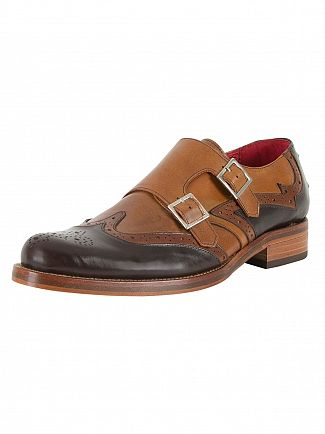 Jeffery West Tequila Dk Brown/Tequila Mid Brown Mix Leather Shoes