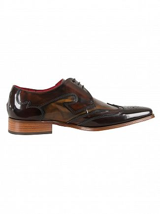 Jeffery West College Dk Brown/College Mid Brown Mix Polished Shoes