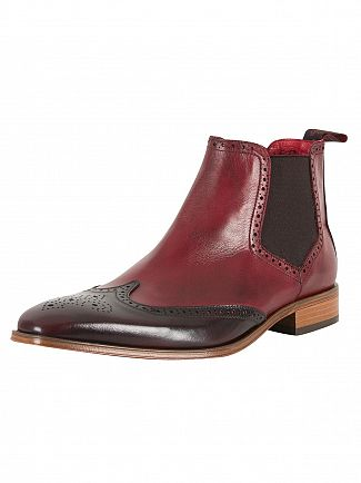 Jeffery West College Burgundy/Toledo Burgundy Polished Shoes