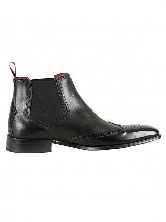 Jeffery West College Black/Toledo Black Polished Shoes