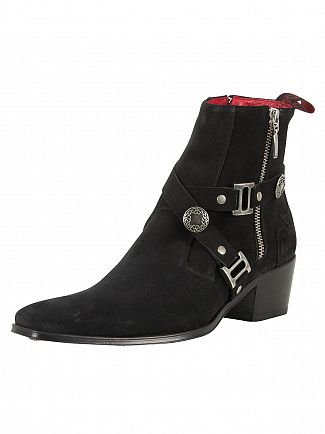 Jeffery West Ante Vac Black Suede Boots